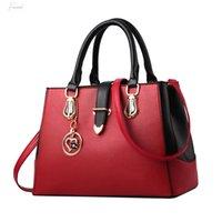 Wholesale fashion women office handbags resale online - Women Pu Leather Handbag With Pendant Office Ladies Elegant Shoulder Bag Designer Tote Sac A Main Femme T2g