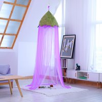 Wholesale girls twin beds resale online - Ins Leef Kids Baby Canopy Mosquito Net Anti Mosquito Princess Bed Canopy Girls Bedding Room Decoration Bed Canopy VT0151