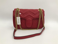 kadınlar için vintage çantalar toptan satış-26 CM Çanta Kadın Çanta Tasarımcısı Marka Ünlü Omuz Çantası Kadın Bağbozumu Satchel Çanta Kadife zincir crossbody çanta Crossbody Omuz Çantaları