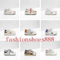 italien leinwand großhandel-Italien Leder Schuhe Sneakers Goldens GB Scarpe Donna Uomo Homme Femme Sneakers Francy Baumwolle Canvas Leder Star Schuhe Größe EUR35-45