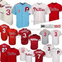 fd9b5f97f Philadelphia 3 Bryce Harper jersey 7 Maikel Franco Phillies 17 Hoskins 4  Lenny 99 Mitch Williams Jerseys 2019 Best selling Jersey