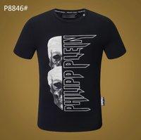 m broca venda por atacado-2019 Designer de Moda Marca de Perfuração Quente Crânios T Shirt Dos Homens de Roupas T Camisas Para Homens Tops de Manga Curta Tshirt-4