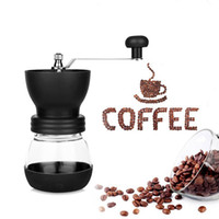 artilugios de ceramica al por mayor-Manual Coffee Grinder Cafe Vidrio de cerámica fortificada Núcleo portátil Durable Café Coffee Pot Bean Mill Maker Herramienta de café Herramienta de cocina Gadget