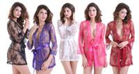 Wholesale string dress sets for sale - Group buy Sexy Nightwear Lace Sexy Lingerie Bodydoll Nightdown Dress Sleepwear G String Underwear Plus Size S XXL