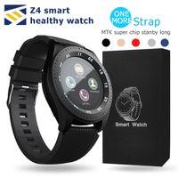 ingrosso sblocco della mela-Bluetooth Smart Watch Z4 sblocco Supporto SIM TF Card Fotocamera Tracker Fitness Anti-Lost PK GT08 GT09 DZ09 A1 V8 Z60 Smartwatch per IOS Android