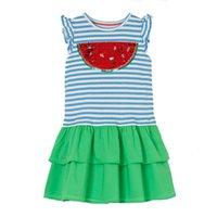 bebek elbiseleri oymalar toptan satış-Tasarımcı Kız Giyim Kısa Kollu% 100 Pamuk Sequins AYDINLATMA Çocuk Giydirme Bebek Giyim Playwear Elbise ile Günlük Elbise