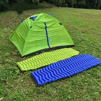 campingzelt matratze großhandel-Weiche Im Freien Zelt Isomatte Aufblasbare Luftmatratze Wellige Form Bestseller Tragbare Feuchtigkeitssichere Pads Reise Camping 97at N1