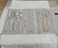 armband rolltasche großhandel-Schmuck Aufbewahrungstasche Schmuck Roll Bag Travel Portable Faltbare Velvet Jewelry Organizer für Halskette Ringe Ohrringe Armband