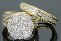 anillo de diamantes chapado en oro venta al por mayor-Nueva venta caliente micro-incrustada anillo de diamante femenino europeo y americano plateó 18 k oro anillo de compromiso señoras compromiso joyería venta