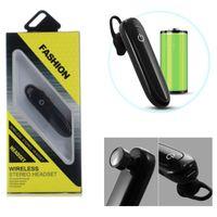 ingrosso lunghe cuffie-T-100 Business Mini Auricolare Bluetooth Cuffia Bluetooth senza fili con microfono Stereo Auricolari Vivavoce lungo Standby King