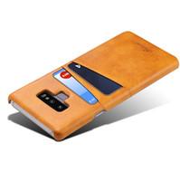 galaxie kreditkarten telefon fall großhandel-Für Samsung Galaxy Note 9 Wallet Case Phone Case schlanke PU Leder zurück Schutzhülle Abdeckung ID Kreditkarteninhaber Slots