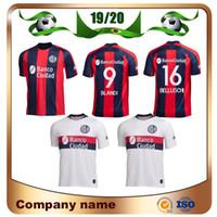 nueva jersey de futbol al por mayor-Nueva camiseta de fútbol de San Lorenzo de 2020, 19/20 San Lorenzo, casa # 16 BELLUSCH Camiseta de fútbol # 9 BLANDI CERUTTI Uniforme de fútbol personalizado