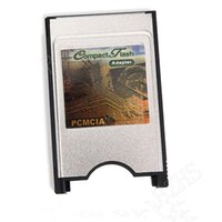 Wholesale PCMCIA Card Reader Adapter Machine Tool CF to PC Card Set PCMCIA to CF Converter Card