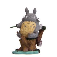 resina do anime da figura de ação venda por atacado-Projetos Dos Desenhos Animados Totoro Artesanato Anime Action Figure Resina Criativo Linda Moda Moderna Decoração de Casa Livre Shpping