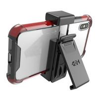 держатели для сотовых телефонов оптовых-Универсальная кобура с зажимом для ремня для держателя сотового телефона подходит для iPhone X 8 Plus Samsung Galaxy S9 Plus Note 9 Phone Grip 50
