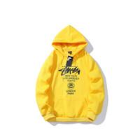 marca mundial venda por atacado-Stussys brand new hoodie dos homens desfile do Mundo além de camisola de veludo moda selvagem casal hoodies homens soltos ao ar livre rua hip hop pullover