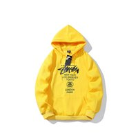 kadife pullu toptan satış-Stussys marka yeni erkek hoodie Dünya parade artı kadife kazak moda vahşi çift hoodies açık gevşek erkekler üst sokak hip hop kazak