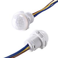 kızıl ötesi ışık dedektörleri toptan satış-Mini Dolap PIR Sensörü Dedektörü Akıllı Anahtarı 110 V 220 V LED PIR Kızılötesi Hareket Sensörü Algılama Otomatik Sensör Işık Anahtarı