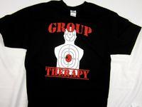 842161ab15 Group Therapy pistol target Gun Shooting hunting short sleeve men's tee  shirt funny gift Short ,short Sleeve T-Shirt ,Tops Round Neck Tees