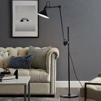 Wholesale industrial home decor resale online - Nordic Industrial Long Rod Rocker Floor Lamp Hotel Home Living Room Vertical Light Decor Fixture FA059