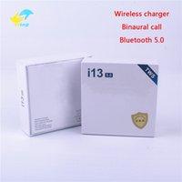 bluetooth kulaklıklar mobil toptan satış-I13 tws Mini Bluetooth Kablosuz Kulaklık Kulakiçi Ile Şarj Kutusu dokunmatik kontrol kablosuz şarj Kulaklıklar Android Akıllı Cep Telefonu Için