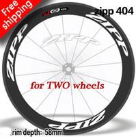 Wholesale carbon rims for road bikes resale online - 404 Firecrest ZIP Wheel Rim set Stickers for road bike Carbon Clincher NSW two wheels bike rim decals