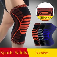 Wholesale sports basketball knee pads for sale - Group buy 201908 Sport Safety Nylon Knee Pad Unisex Fitness Running Cycling Knee Brace Basketball Volleyball Compression Support Sleeve Kneepads M225F