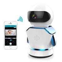 câmeras ip sem fio pequeno venda por atacado-Pequeno robô wi-fi sem fio milhões de alta definição câmera de monitoramento em casa rede de monitoramento remoto sem fio edifício de segurança em casa