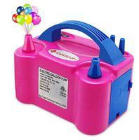 ingrosso ventilatori a palloncino-Portatile doppio ugello elettrico palloncino pompa aeratore gonfiabile palloncini elettrici per la festa di compleanno di nozze decorazione festosa forniture rosa