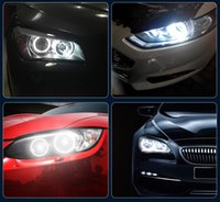 Wholesale blue h4 led lights resale online - Factory Outlet For BMW Angel Eye E39 W LED Car Light Headlight Decoration Modified Light