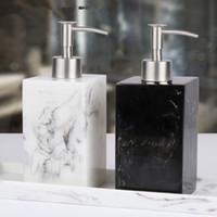 shampoo-spenderflaschen groihandel-Flasche 500 ml-Harz Soap Bottle Creative Hotel Marble Shampoo Dispenser Press Hand Sanitizer Flasche Seifenspender MMA2658-1