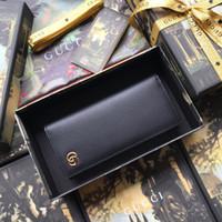 Wholesale boys long wallet resale online - 2019 red bottoms lady long wallet multicolor designer coin purse Card holder original box women classic zipper pocke