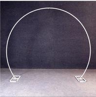 ingrosso arco del fiore del metallo-Oro bianco U / cuore / forma di anello tondo Metal Iron Arch Fondale da sposa stand Decor partito palloncino fiore Stand scaffale