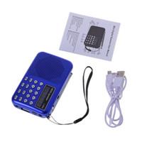 micro pack achat en gros de-Mini LCD Audio Numérique Radio FM USB Haut-Parleur Carte Micro SD TF Lecteur de musique MP3 77UA