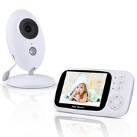 video portero inalámbrico a color al por mayor-Wireless Podofo 3.5 '' Baby Monitor Digital Video Audio Música Cámara portátil para niños Nanny Monitor Intercom Sensor de temperatura