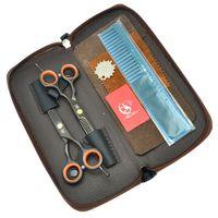 Meisha 5.5 Inch High Quality Black Hair Scissors Razors Hairdressing Shears Japan 440C Professional Salon Scissors Barbers Clippers HA0082