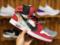 Wholesale red basketball shoes for men for sale - Group buy OFF s Red Black White Chicago UNC Mens Basketball Shoes For Men Sports Womens Designer Sneakers Chaussures Trainers Size