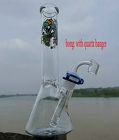 için uzun su boğa toptan satış-Kimaly Cam Bong Dab Rig Su Borular 10