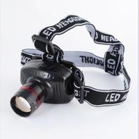 ingrosso illuminazione del proiettore-LED forte luce di testa 3 modalità / zoom telescopico fari pesca all'aperto luce di campeggio faro ZZA207