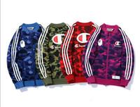 cardigan mujer xxl al por mayor-Diseñador de lujo con capucha hombres mujeres abrigo deportivo de manga larga sudadera tops estilo de moda ropa M-XXL 4 Color