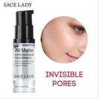 голые масла оптовых-SACE LADY pore невидимый грунтовка для лица 6 мл /12 мл / 30 мл Жидкий матовый масло управления крем для лица скрасить обнаженная основа косметика