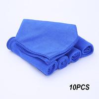 чистка мягкой ткани оптовых-10pcs Absorbent Wash Towel 30*30CM Towel Auto Car Quick Dry Cleaning Soft Cloths Duster Microfiber