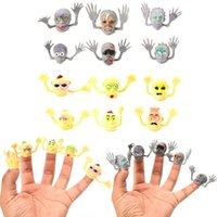 Wholesale fool toys for sale - Halloween Finger Cot Ghost Zombies Witch Fingers Tip Prank Trick Toy April Fools Day Creative Man Women Children xk D1