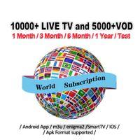 akıllı kutu android dongle toptan satış-Android iOS Smart TV Mag Kutusu M3U Avrupa Fransa ABD Kanada Almanya İspanya Portekiz Arapça Hollandalı İsveç Fren Türkiye Kodu için Dünya abonelik