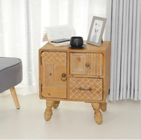 Wholesale antique solid wood for sale - Group buy Solid wood bedside cabinet American retro Personality Creative Living Room Bedroom Sofa Receiving Cabinet Hostel Decorative Storage Cabinet