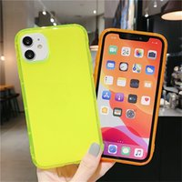 Wholesale waterproof case online – custom Simple Waterproof For iPhone series Fluorescent Color Shockproof Phone Case Neon Case Soft TPU Clear Phone Cover