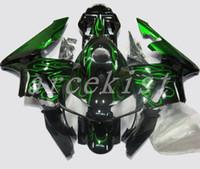 полный обтекатель honda cbr оптовых-3Gifts Новый впрыск Полный комплект обтекателя, пригодный для Honda CBR600RR 03 04 Комплект пластиковых обтекателей из ABS CBR 600RR F5 2003 2004 красивый зеленый огонь