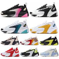 erkekler için hafif koşu ayakkabıları toptan satış-Nike Zoom 2K Klasik M2k Tekno Zoom 2 K Erkek kadın Koşu Ayakkabıları beyaz Siyah Mor Kraliyet Mavi Kadınlar Üçlü Siyah Spor Sneakers Erkek Eğitmen 36-45