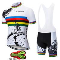 jersey de bicicleta cielo negro al por mayor-X-CQREG Jerseys de ciclismo para hombre 2018 Roupas Ropa Ciclismo Hombre MTB Maillot Ciclismo / Ropa de ciclismo de carretera de verano Ropa Cycliste Equipe