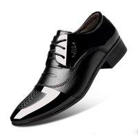 модная обувь корейский стиль мужчины оптовых-Мужские кожаные туфли британский стиль бизнес вскользь носить остроконечные тенденции моды весна корейской версии свадьбы мужской обуви